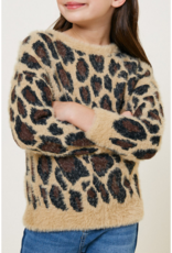 Hayden Girls Leopard Print Sweater