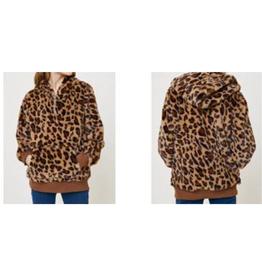 Hayden Girls Leopard Print Hoodie