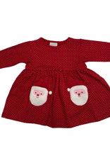 Squiggles Santa Popover Dress