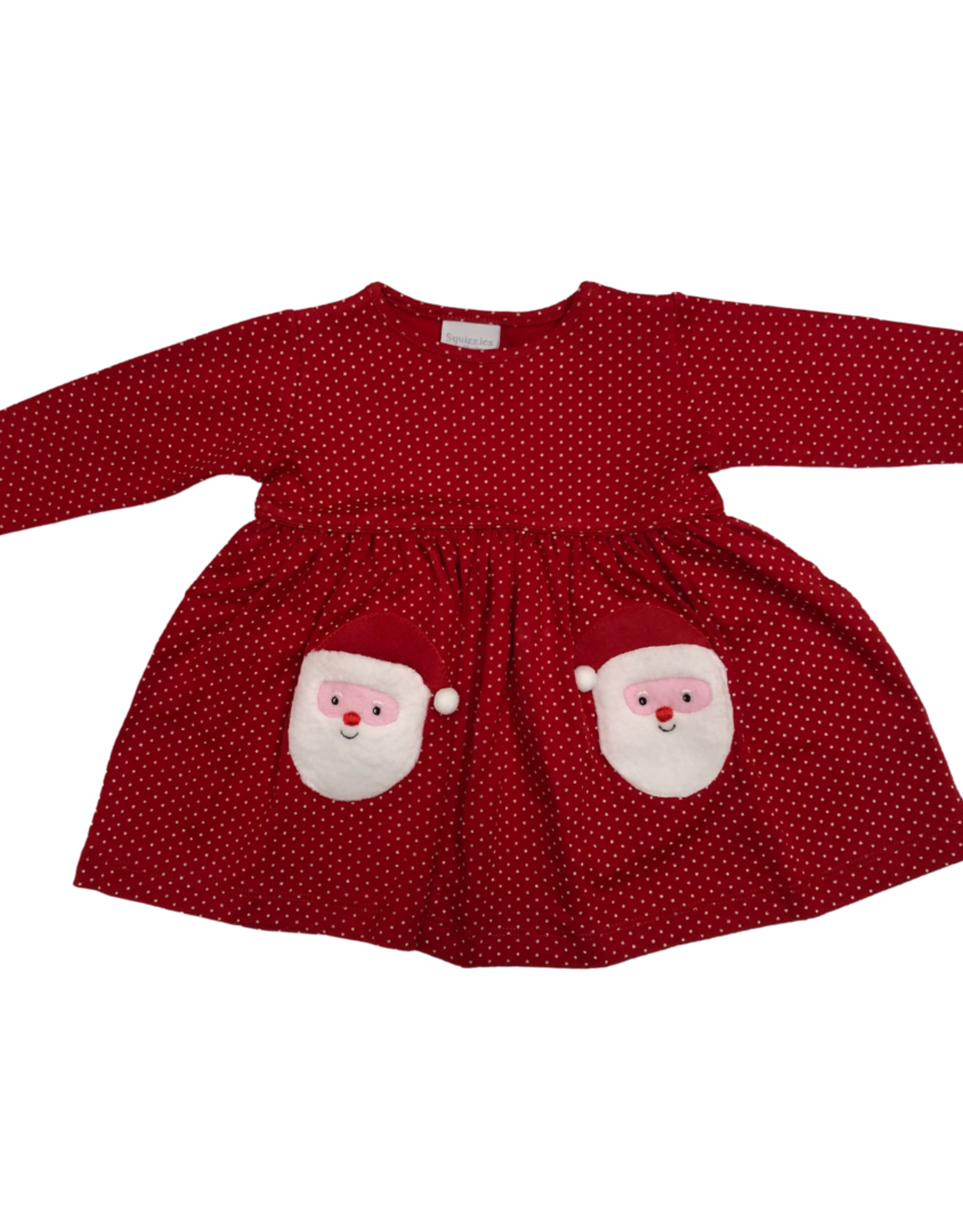 Squiggles Santa Popover Dress