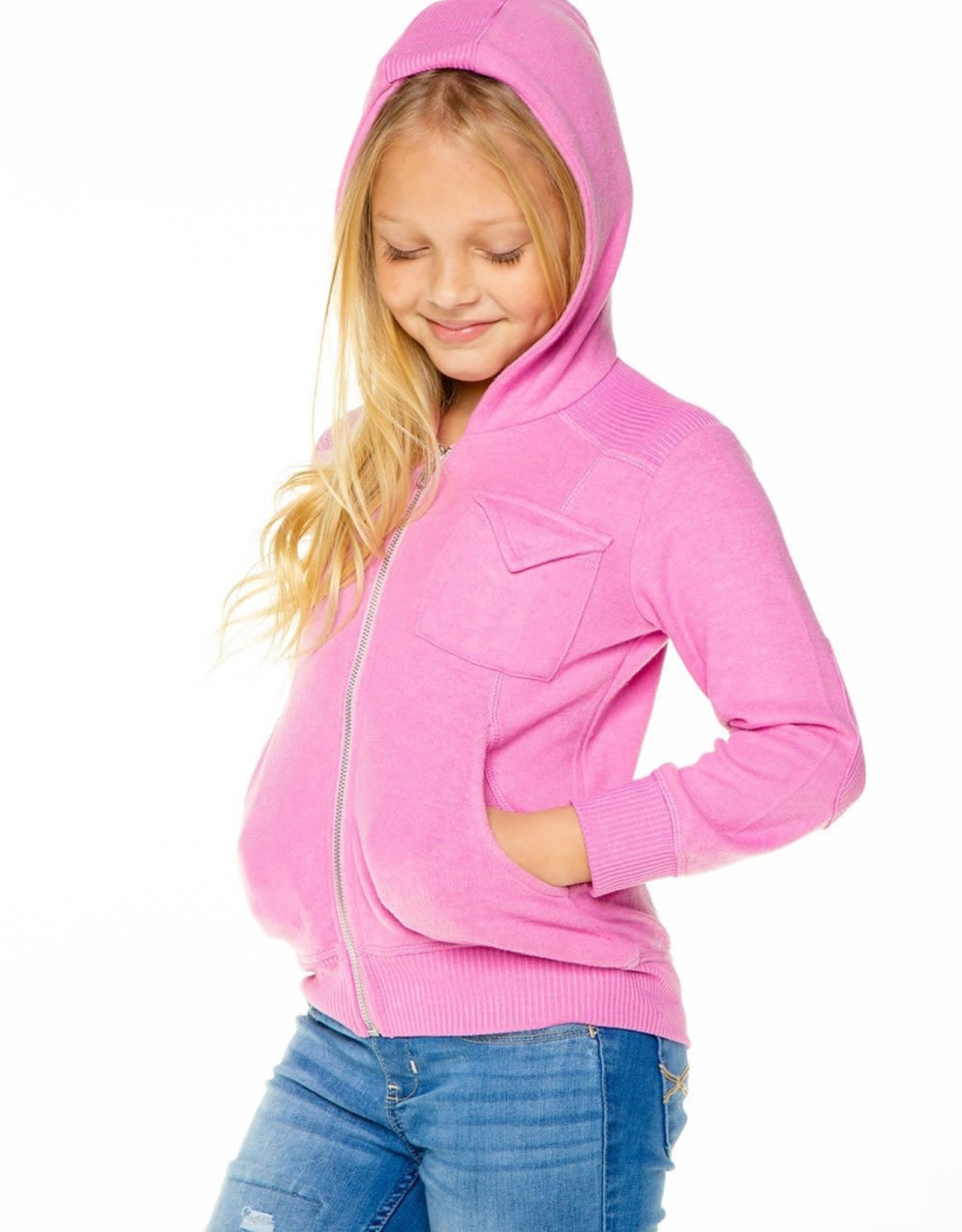 Chaser Girls Love Knit Hoodie Zip-Up Hoodie
