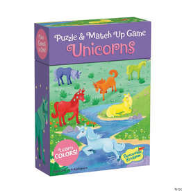 Peaceable Kingdom Match Ups Puzzle Game: Unicorn