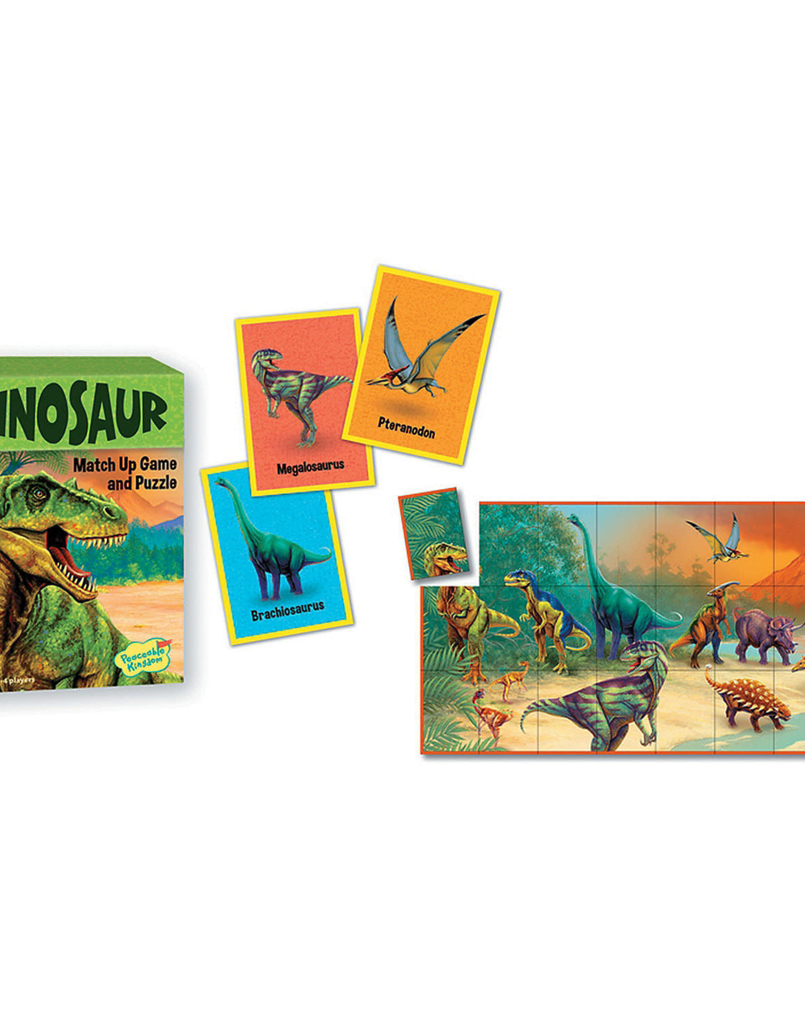 Peaceable Kingdom Dinosaur Match Up Game