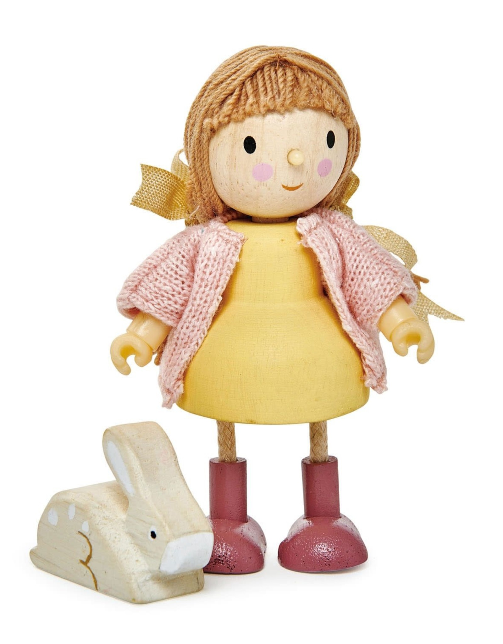 Tender Leaf Amy and her Rabbit- Wooden Doll Set