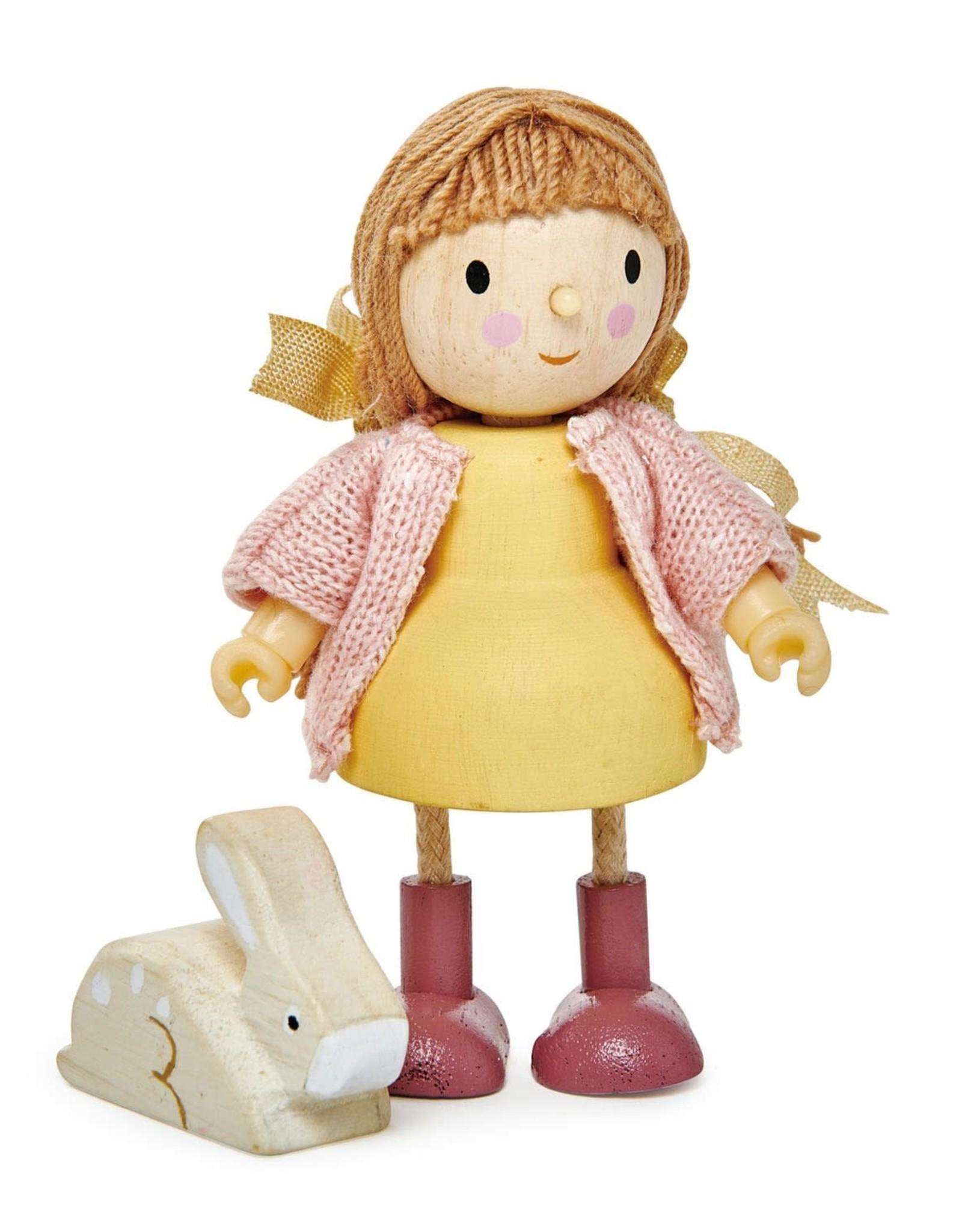 Tender Leaf Tender Leaf Amy and her Rabbit- Wooden Doll Set