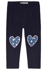 Hatley Navy Hearts Baby Leggings