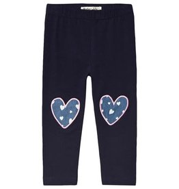 Hatley Navy Hearts Baby Leggings
