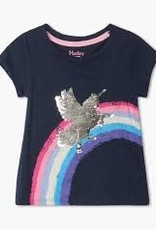 Hatley Shimmer Unicorn Flip Sequin Tie Back Tee