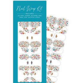 Studio Oh! Nail Wrap Kit, Floral Moths