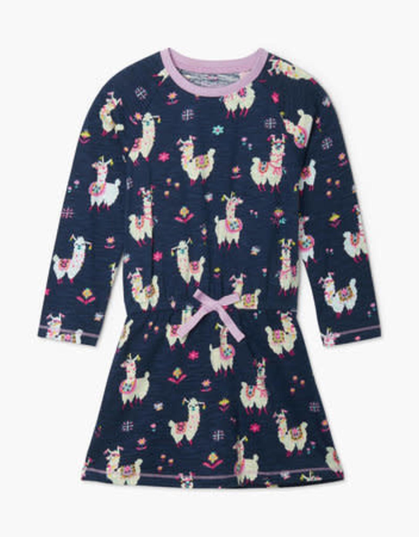 Hatley Pretty Alpacas Drop Waist Dress