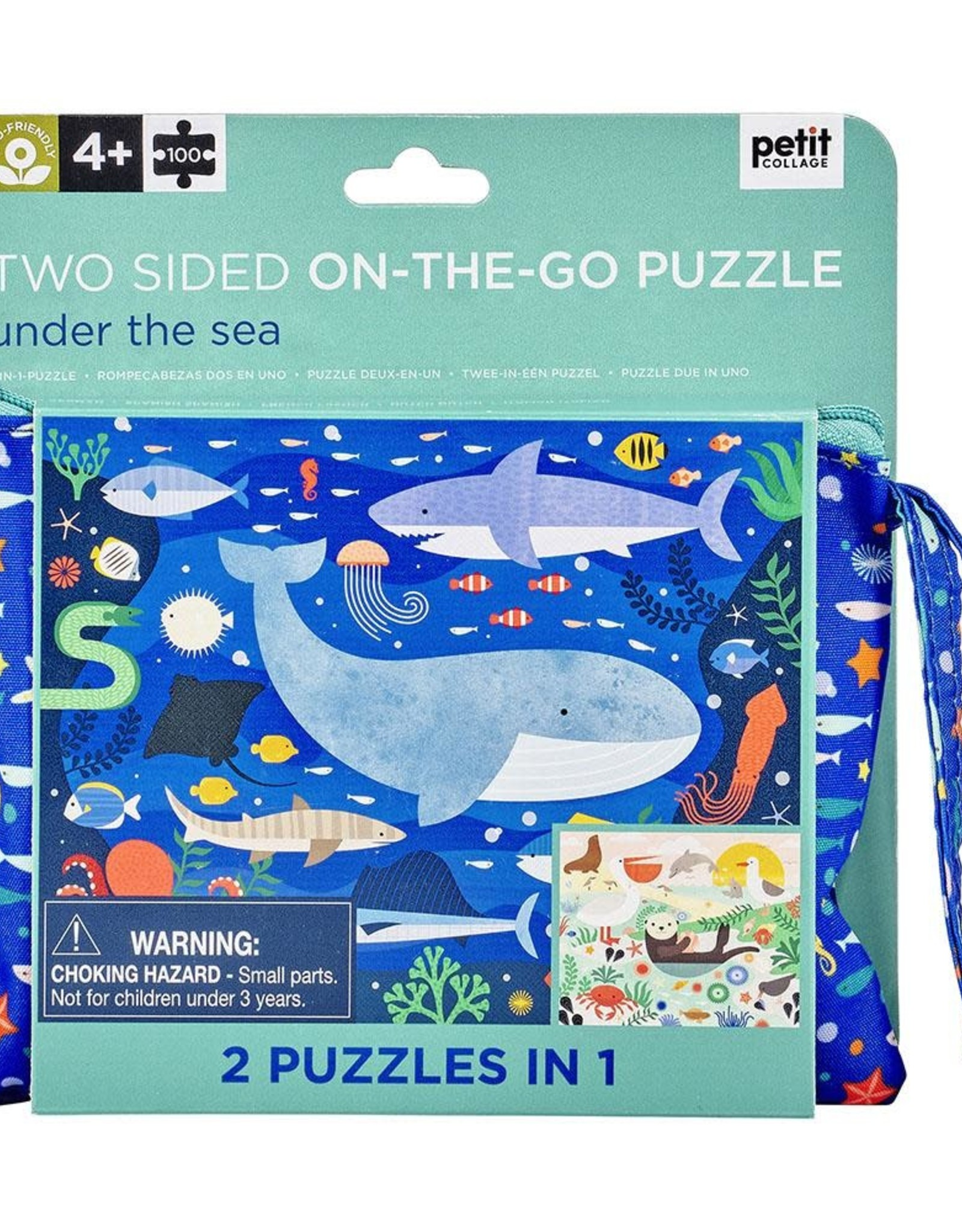 Petit Collage Double Sided Under the Sea Puzzle
