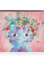 Studio Oh! Zippered Fancy Cat Pouch, Large