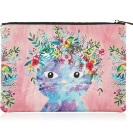 Studio Oh! Studio Oh! Zippered Fancy Cat Pouch, Large