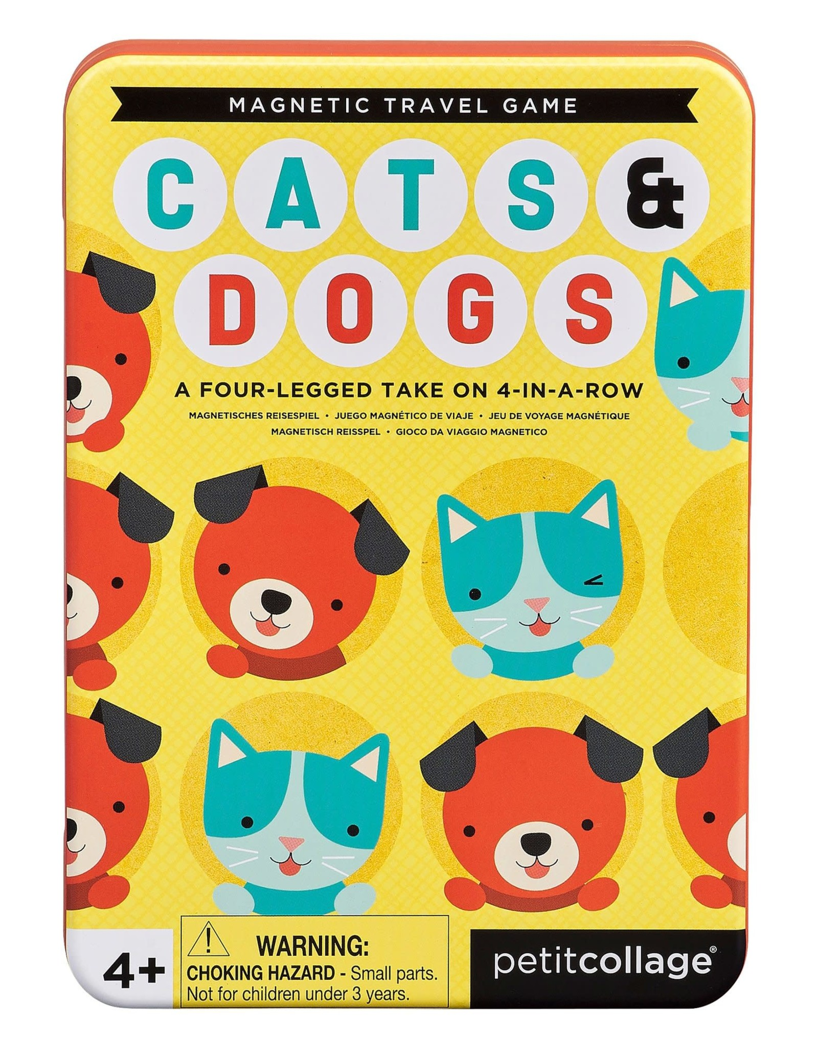Petit Collage Magnetic Travel Game Cats & Dogs 4 in a Row