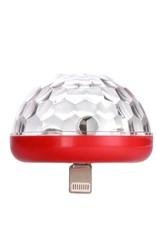 Kikkerland iPhone Disco Light, Red