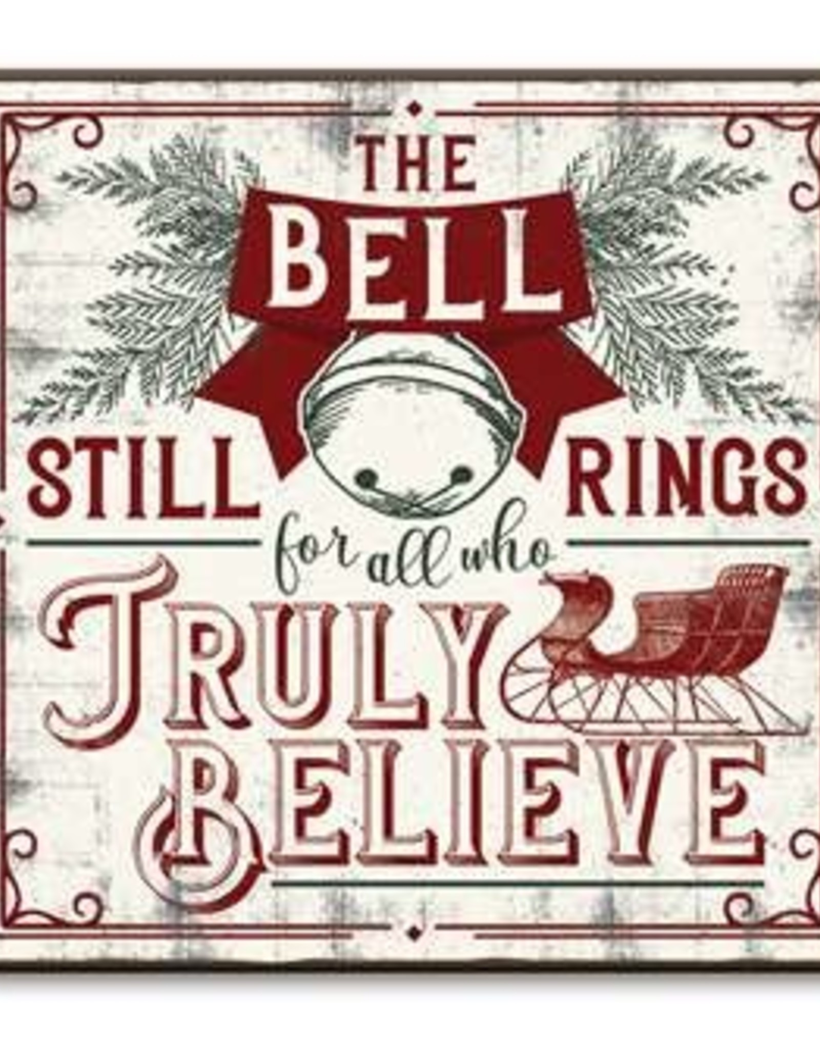 """The Bell Still Rings for All Who Truly Believe Chunky, 6"""" by 6"""""""