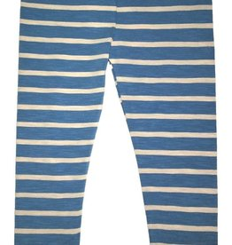 Mimi & Maggie Striped Leggings, Lake Blue