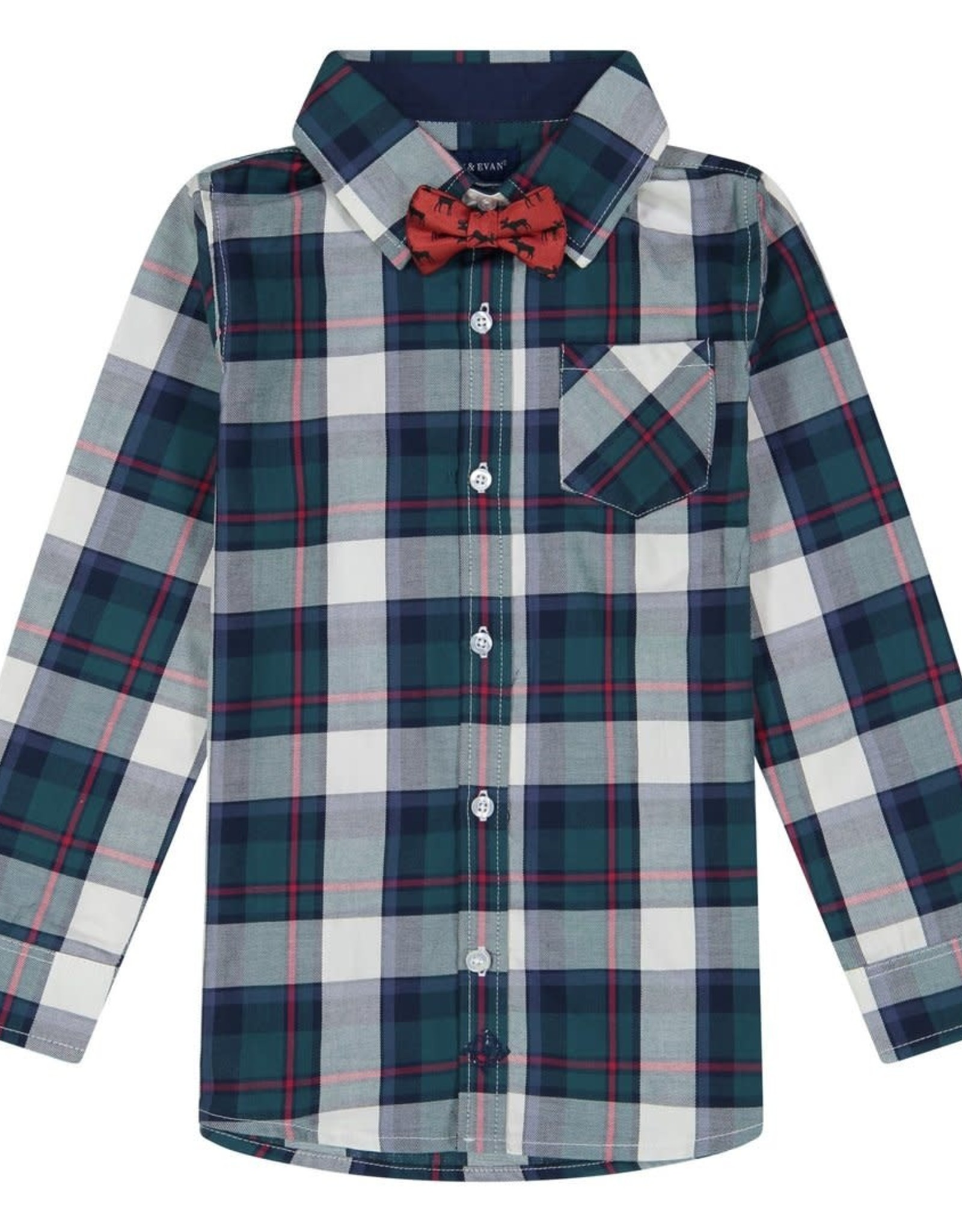 Andy & Evan Button Down Shirt with Bowtie