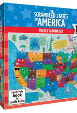 Gamewright Scrambled States of America  150 pc Puzzle and Book Set