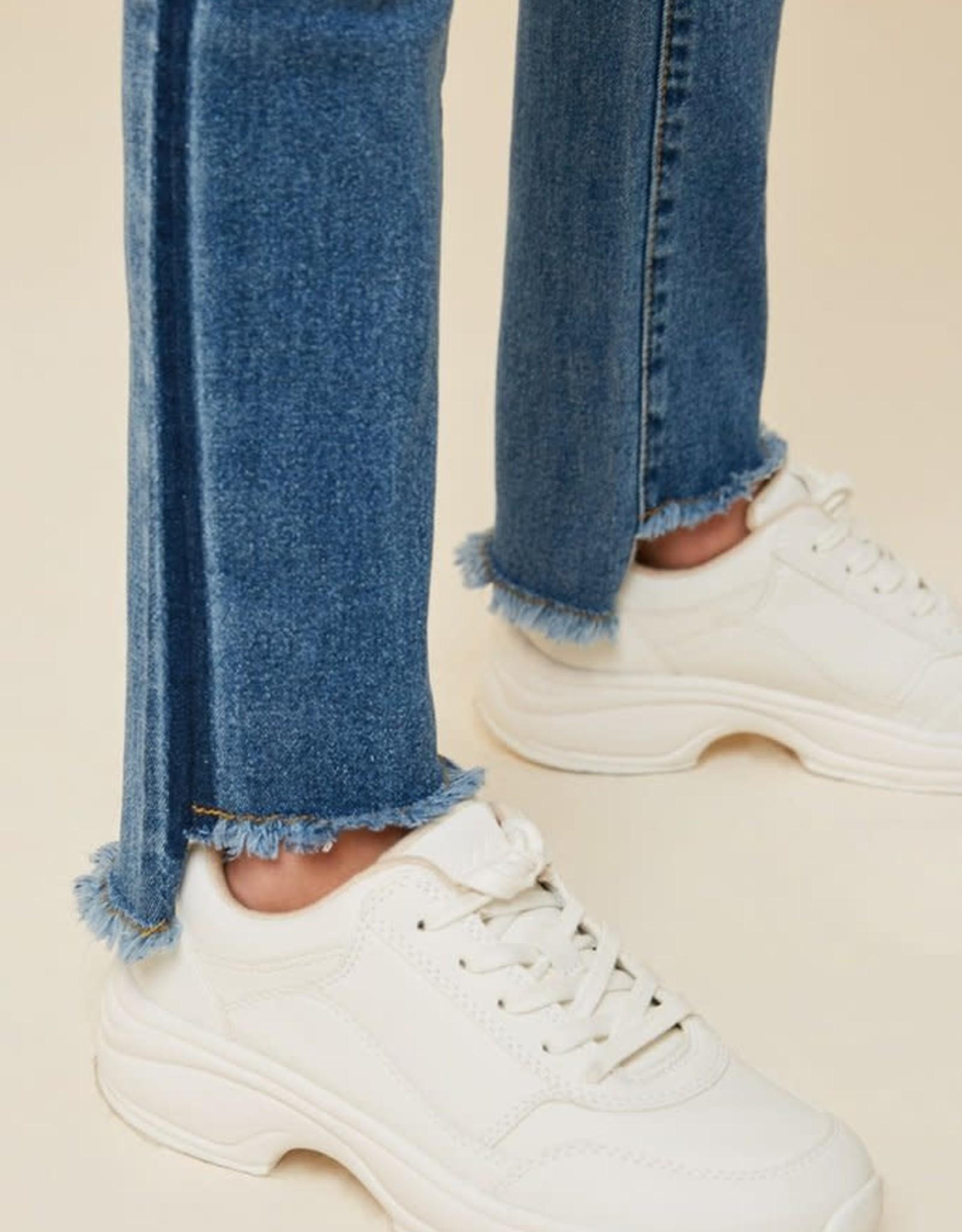 Hayden Girls Hayden Girls Stone Washed Frayed Ankle Jeans