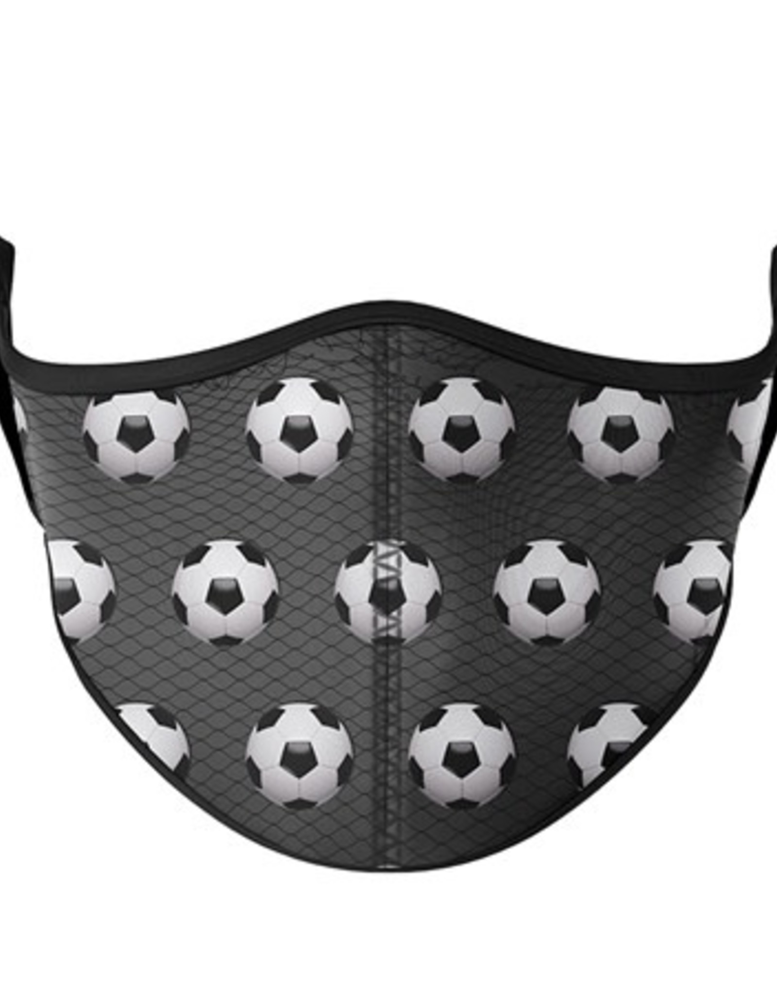 Top Trenz Fashion Face Mask, Large, Soccer