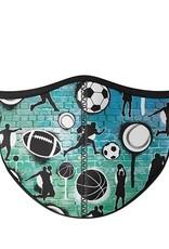 Top Trenz Fashion Face Mask, Large, Graffiti Sports