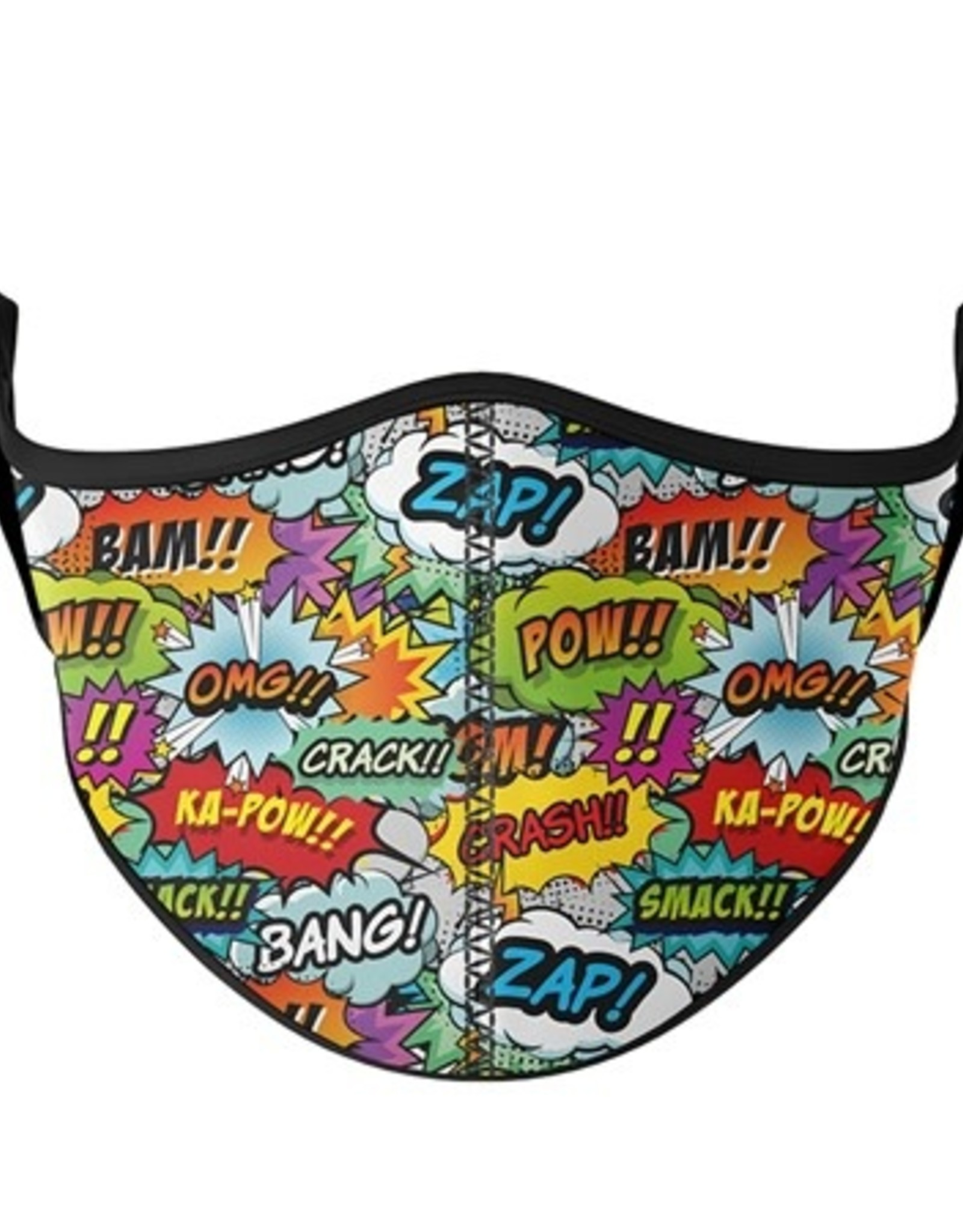 Top Trenz Fashion Face Mask, Large, Comic Theme