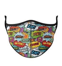 Top Trenz Fashion Face Mask, Large, Comic Theme