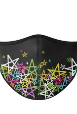 Top Trenz Fashion Face Mask, Large, Spray Paint Star