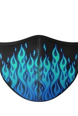 Top Trenz Fashion Face Mask, Large, Flame light blue