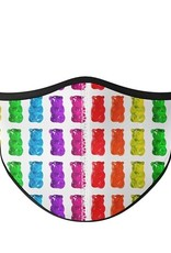 Top Trenz Fashion Face Mask, Large, Jelly GUMMIE BEAR