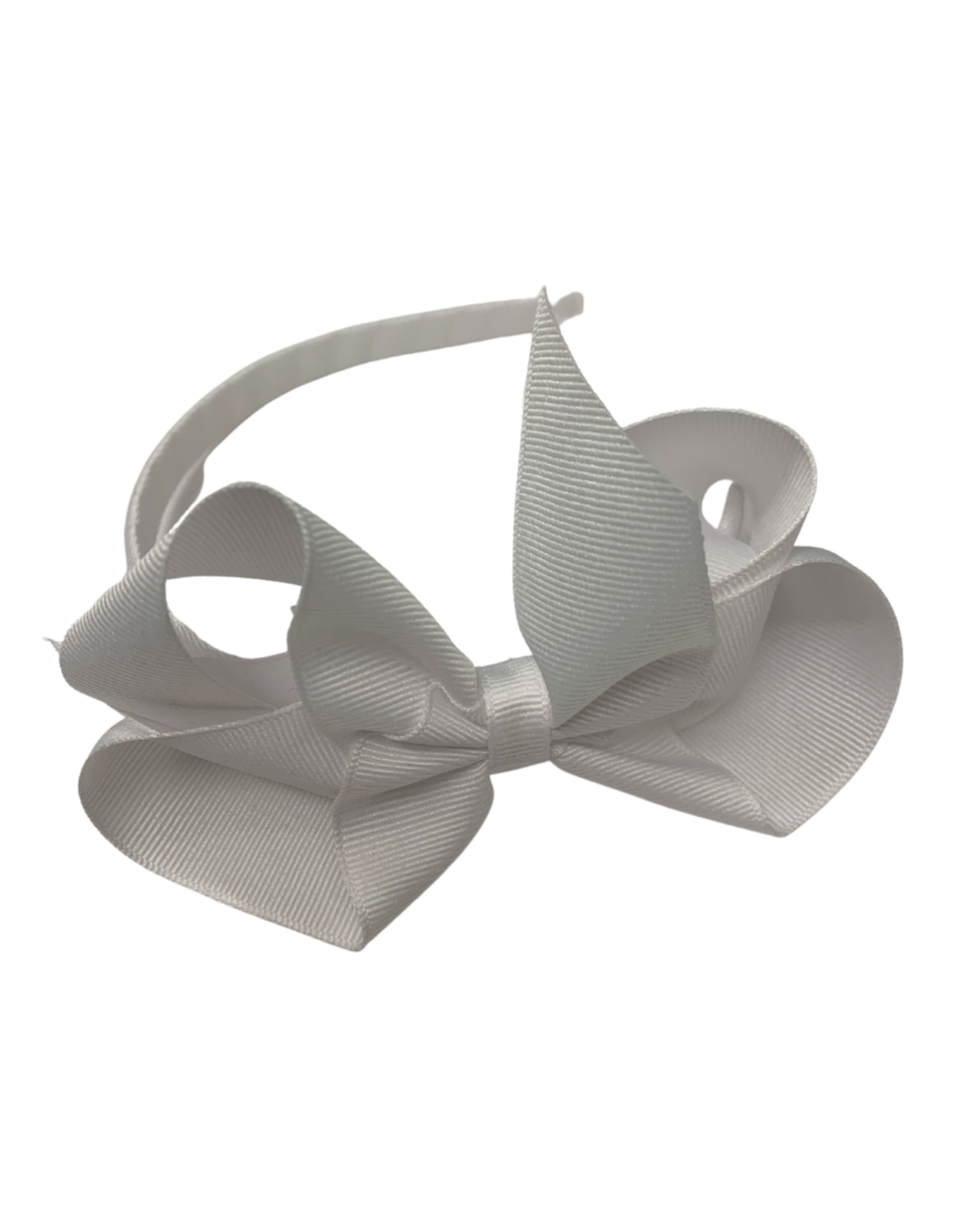 Bows Arts Big Classic Bow Headband - White