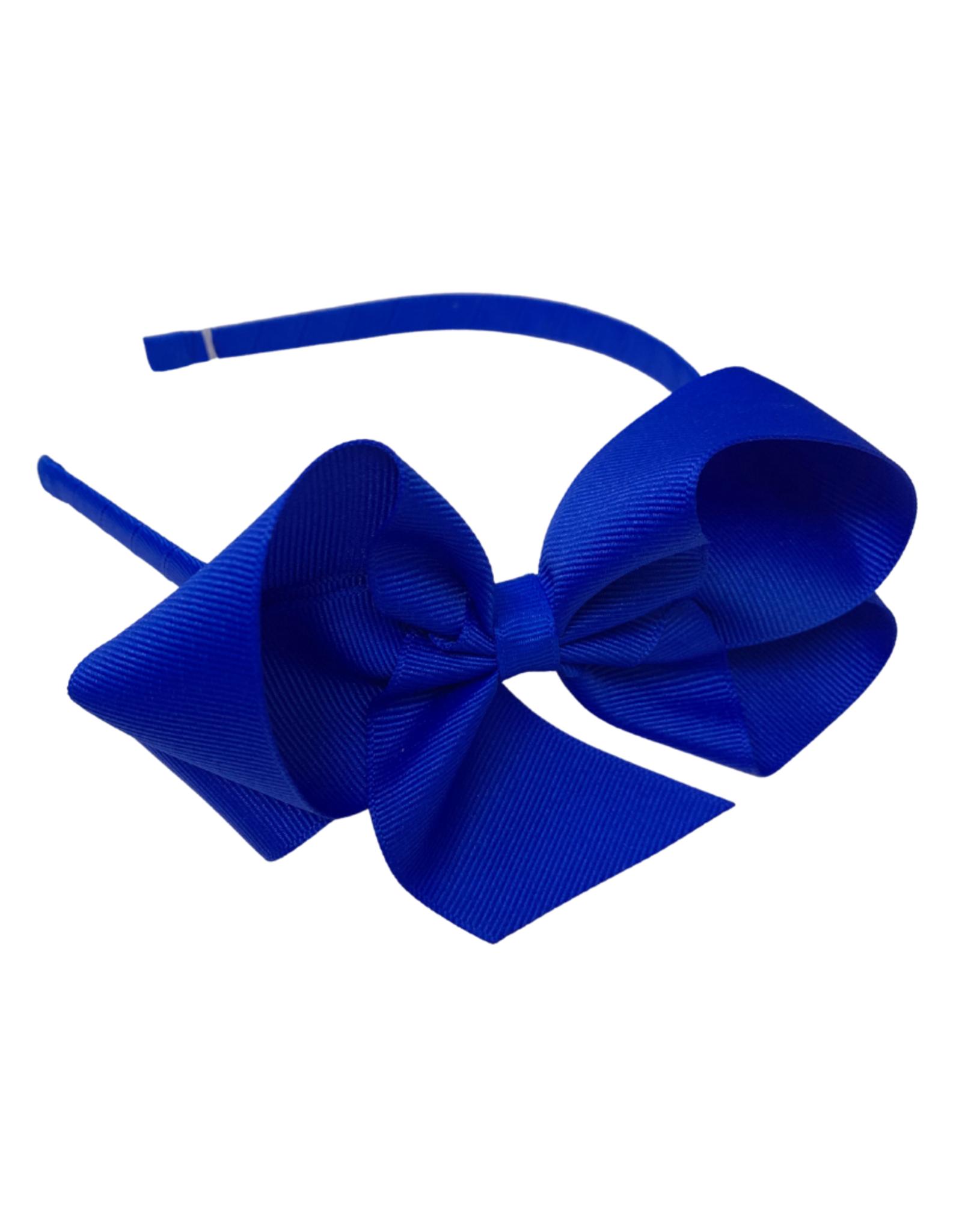 Bows Arts Big Classic Bow Headband - Aegean Blue