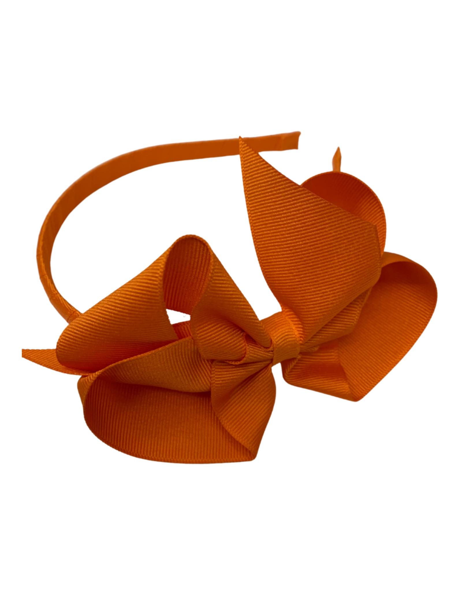 Bows Arts Big Classic Bow Headband - Orange