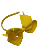 Bows Arts Big Classic Bow Headband - Maize