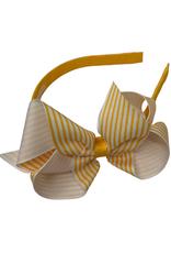Bows Arts Big Seersucker Bow Headband - Tangerine