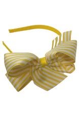 Bows Arts Big Seersucker Bow Headband - Maize