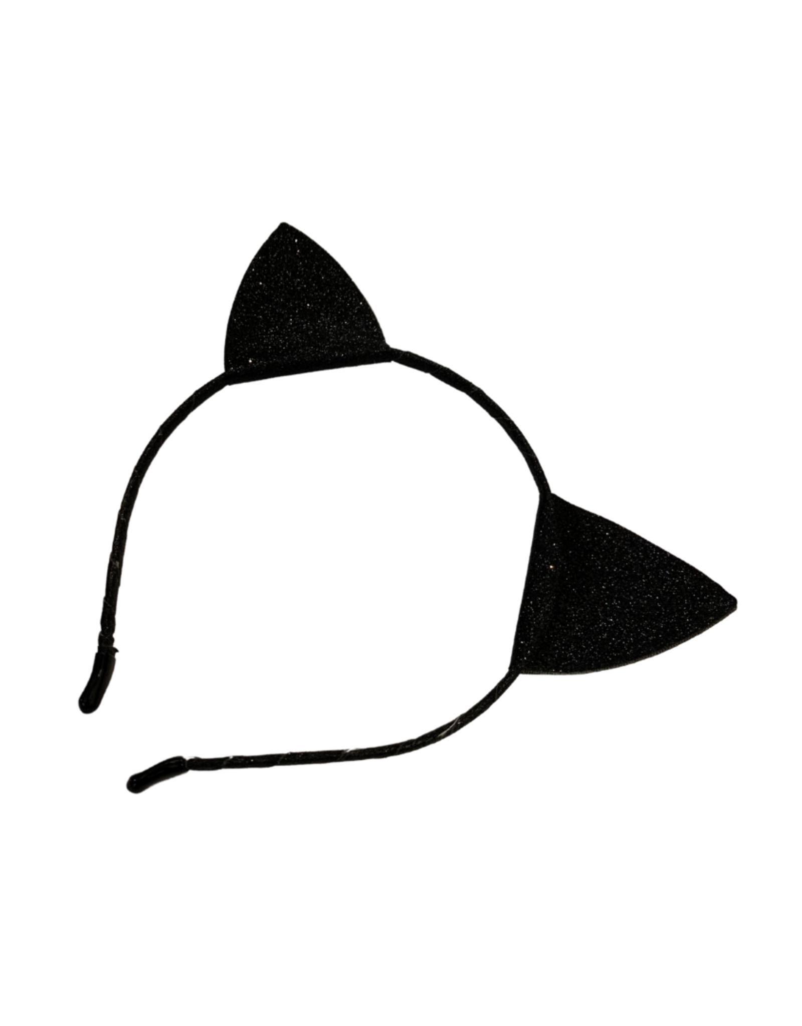 Bows Arts Kitty Ears Headband - Black Glitter