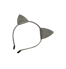 Bows Arts Kitty Ears Headband - Silver Glitter