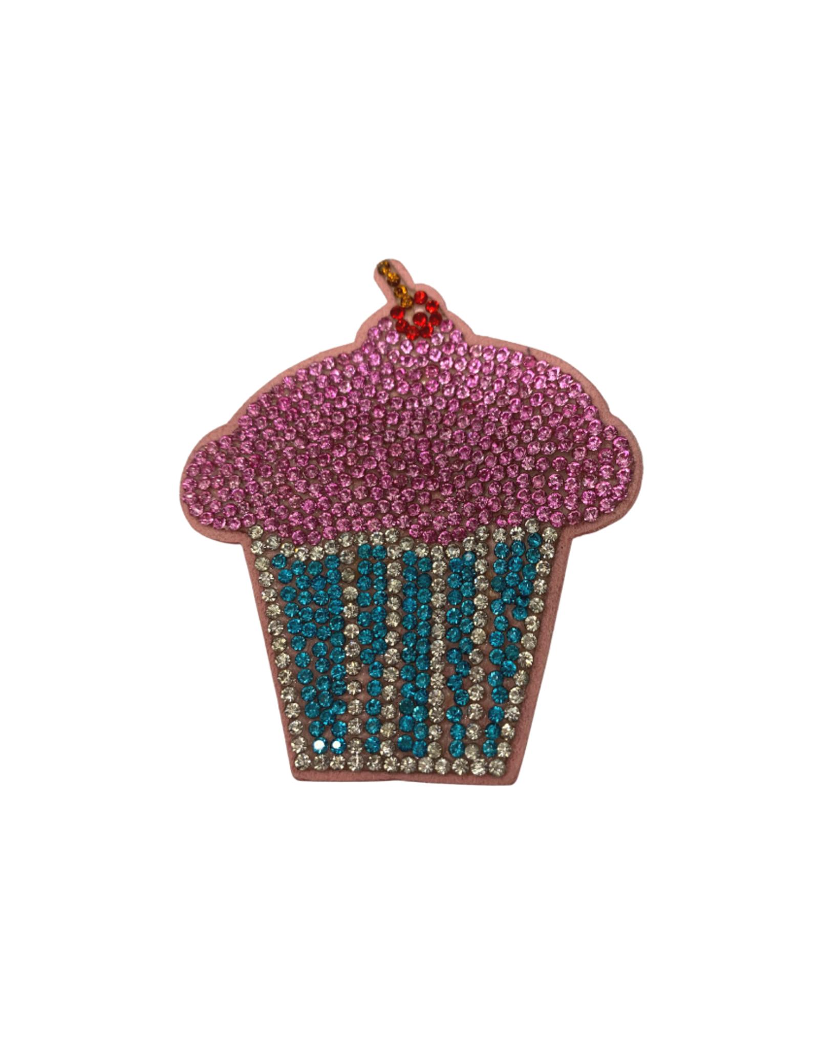 Bows Arts Rhinestone Motif Clip - Cupcake