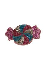 Bows Arts Rhinestone Motif Clip - Candy