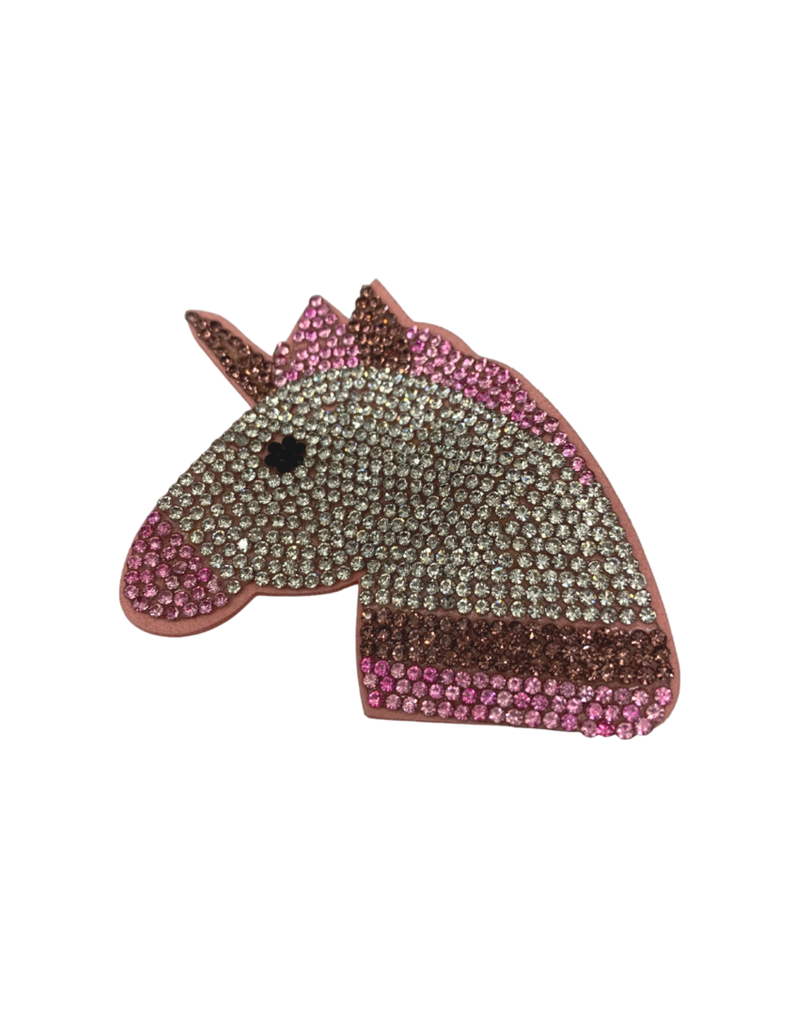 Bows Arts Rhinestone Motif Clip - Unicorn