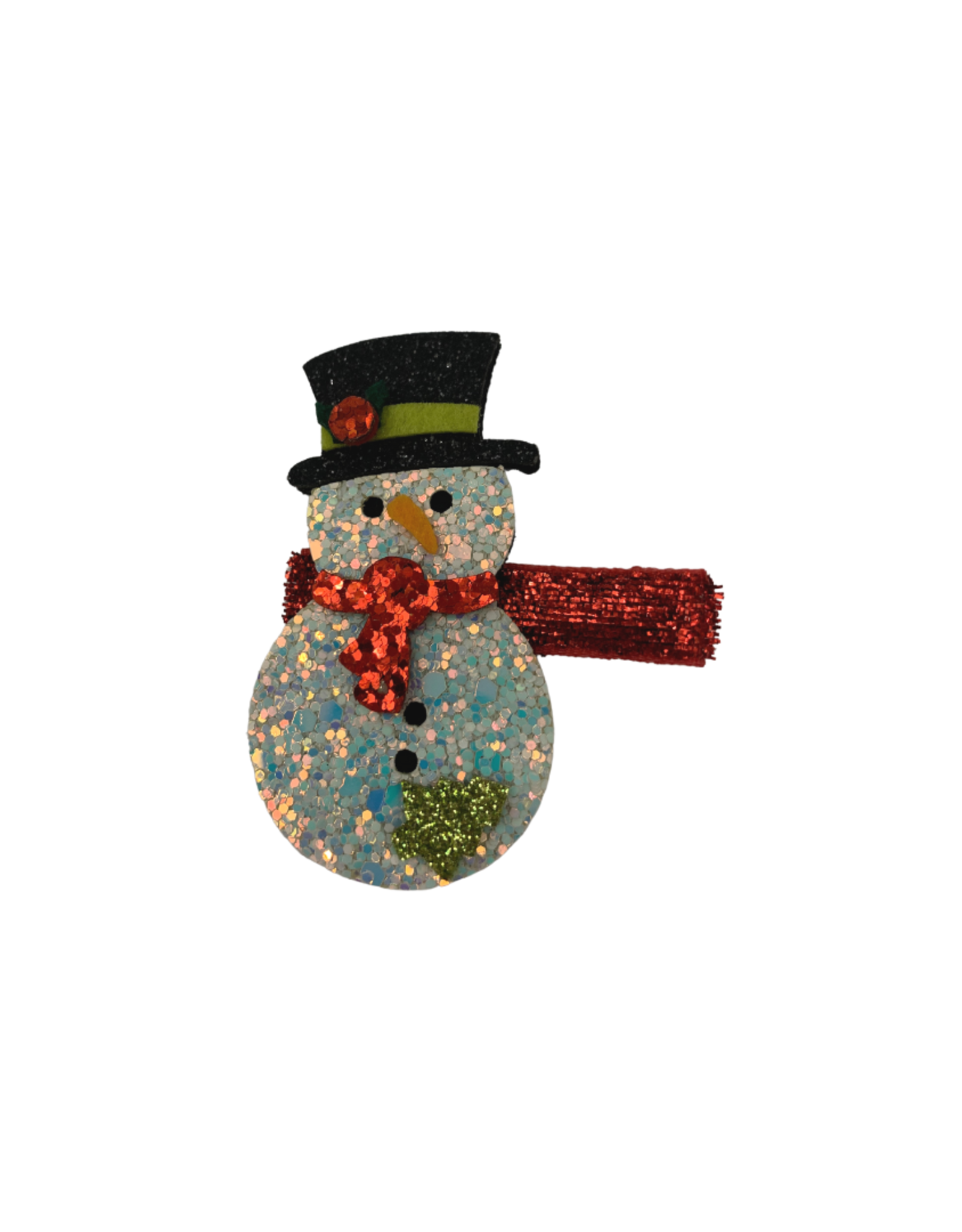 Bows Arts Christmas Popper Hair Clip - Snowman