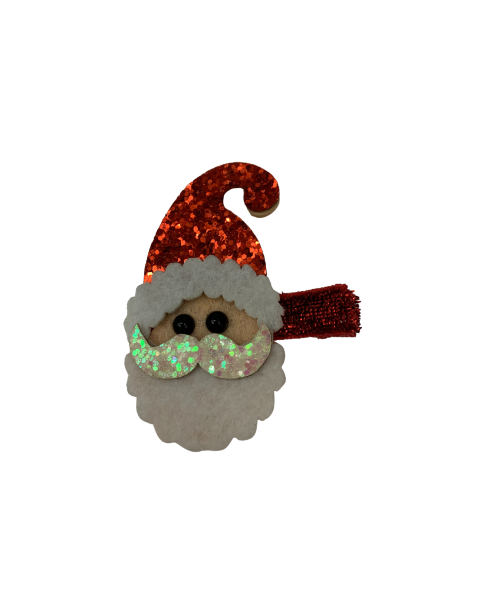 Bows Arts Christmas Popper Hair Clip - Santa