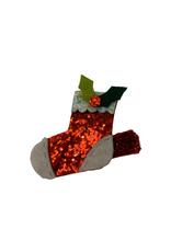 Copy of Bows Arts Christmas Popper Hair Clip - Santa