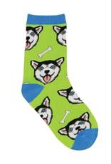 Socksmith Happy Husky Socks, Green