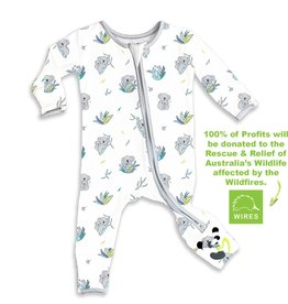Bellabu Bear Bellabu Bear Koala Bamboo Convertible Footie