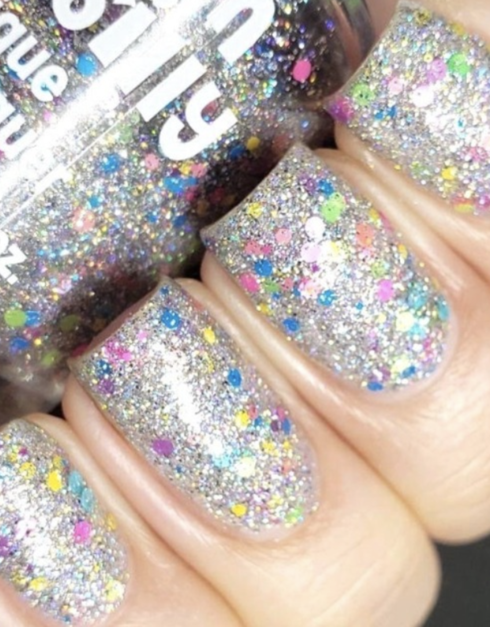 Polish Me Silly Bright Lights Silver Holographic Carnival Nail Polish