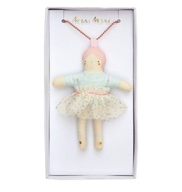 Meri Meri Doll Necklace Matilda, Pink Hair