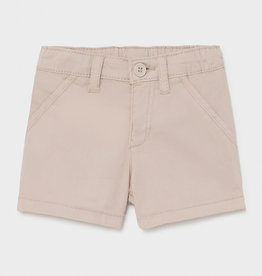 Mayoral Twill Shorts, Beige